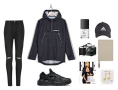 hhk s. by marssysl on Polyvore featuring adidas Originals, Ally Fashion, NIKE, adidas, NARS Cosmetics, Smythson and Happy Plugs