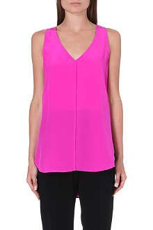 10 CROSBY Sleeveless silk top