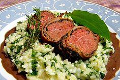 Bacon - Lamm mit Bärlauchrisotto (Rezept mit Bild) | Chefkoch.de