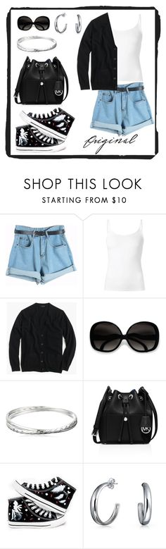 """""""Untitled #579"""" by gallant81 ❤ liked on Polyvore featuring Chicnova Fashion, The Row, J.Crew, MICHAEL Michael Kors, HVBAO and Bling Jewelry"""