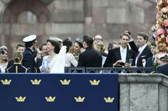 After the wedding of Prince Carl Philip and Princess Sofia. June 13th 2015