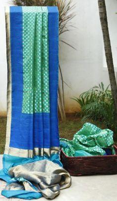 #Parisera Turquoise & Ocean green #Banarasi Silk