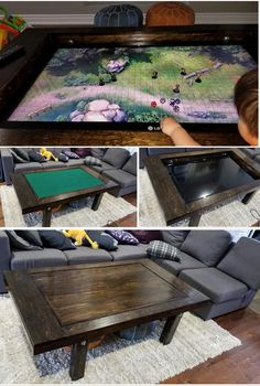 DnD: Roll for Initiative! Gaming Table Diy, Gaming Room Setup, Board Game Table, Table Games, Game Tables, Dnd Table, Nerd Room, Nerd Cave, Puzzle Table