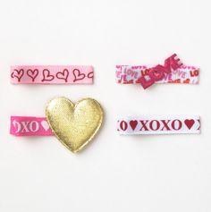 Valentine Clippie Set of Four - Blossomheads Valentine Boutique