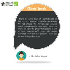 We constantly strive to exceed our customer's expectations #Healthabove60 #patientTestimonial