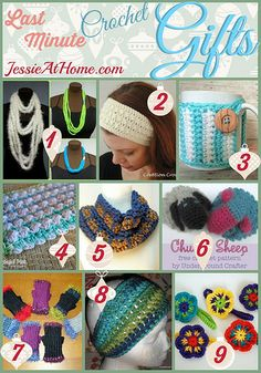 Last Minute Crochet Gifts Round Up from Jessie At Home