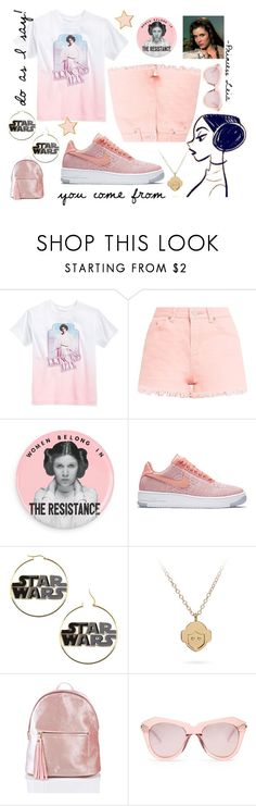 """Princess Leia/Carrie Fisher"" by numeangeleyes ❤ liked on Polyvore featuring Retrò, NIKE, Karen Walker and Stoney Clover Lane"