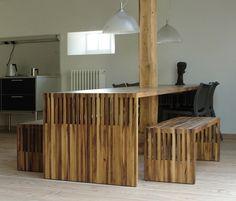 Bas table/bench by Pilat & Pilat
