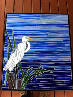 Bird In Blue - Delphi Artist Gallery by Savanna Beach Mosaic's