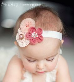 cute headband - can get these flowers at Hobby Lobby I think in scrapbook section