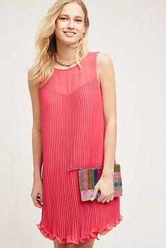 Layered Pleat Swing Dress