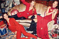 Liu Wen, Doutzen Kroes and Christy Turlington for H & M | via www.orientsystem.com