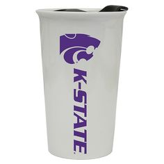 Kansas State Wildcats Double-Walled Ceramic Tumbler, Multicolor