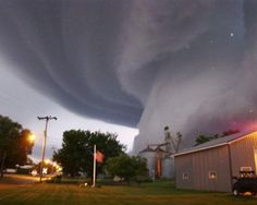 Lori Mehmen, who lives in the small farming town of Orchard in the northeastern part of the state, snapped this picture from her front door on June 17, 2008. The tornado uprooted trees and damaged crops, but no one was killed.