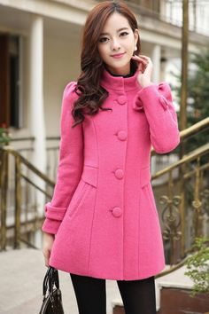 Women's Fashion Bowknot Deco Woolen Coat - OASAP.com LABOR DAY SALE EVENT up to 90 OFF. 21% Off Coupon: Labor2014