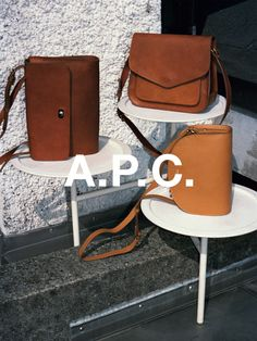 #BAGS A.P.C. F/W 14 leather bags shot by Walter Pfeiffer. http://bit.ly/1v3mQG9