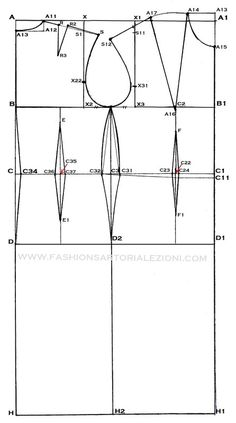The best DIY projects & DIY ideas and tutorials: sewing, paper craft, DIY. Sewing Lessons, Sewing Hacks, Sewing Tutorials, Sewing Patterns, Dress Patterns, Tutorial Sewing, Fashion Sewing, Diy Fashion, Croquis Fashion