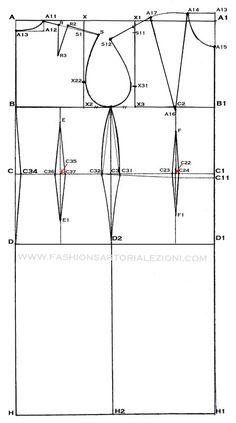 modello base per abito tubino,come fare carta modello abito tubino