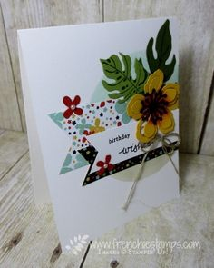 "Stamp & Scrap with Frenchie: Beautiful Cards ""Happy Mail"" Botanical Garden"