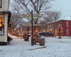 Main Street Nantucket at Christmas