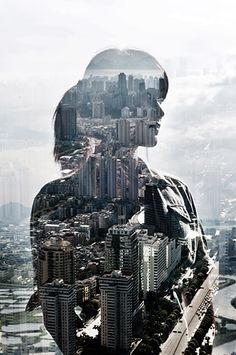 Silhouette with city skyline in background  http://ffffound.com/image/7a79808cd4f49812c9858b24a53ed8412b2493a7