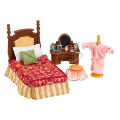 Fisher Price Loving Family Dollhouse Furniture Set Parents Bedroom Details  About New