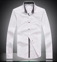 Men's Button Down Shirt with Button Details