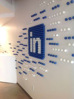 Pin pong ball art ! Environmental graphic design #graphicdesign