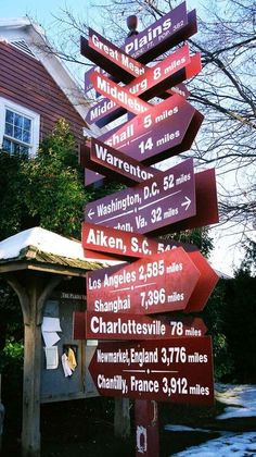 Virginia. You can get here from there. :) #loveva - Beautiful area where this sign is located, middle of horse country.