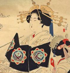 Have Genuine woodprint painting of geishas Thanks!