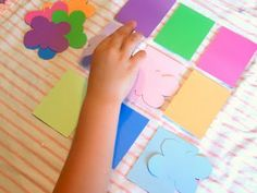 Butterfly color match game-use paint chip cards, construction paper, card stock