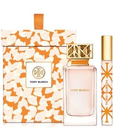 Tory Burch 2-Pc. Signature Gift Set $130.00 Two of a kind, for home and on the go. The Tory Burch fragrance captures classic elements in unexpected ways. Feminine and tomboy. Easy and polished. Floral peony and tuberose blend with crisp citrus notes of grapefruit and neroli, anchored by earthy vetiver. Beautifully presented in a printed keepsake box, it's a super-chic set anyone will love.