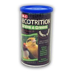 8 in 1 Ecotrition Grains & Greens Variety Blend for Canaries & Finches 8oz