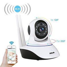HD 720p IP P2P avec WiFi Caméra Video surveillance IR Nocturne et détection des mouvements 1,0Mp Mtek avec microphone et altavoz.…