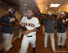 Romo Celebrates as the Giants Win The West – Clubhouse Celebration « SF Giants Photos