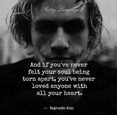 This...yes. He may have thought it was easy for me to leave, but it was one of the hardest things I have ever done. It hurt like hell. Because I did love him with all my heart, body and soul. I know at one time he loved me too.