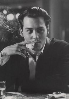 Johnny Depp | photography | black and white | smoke | photo shoot inspiration |