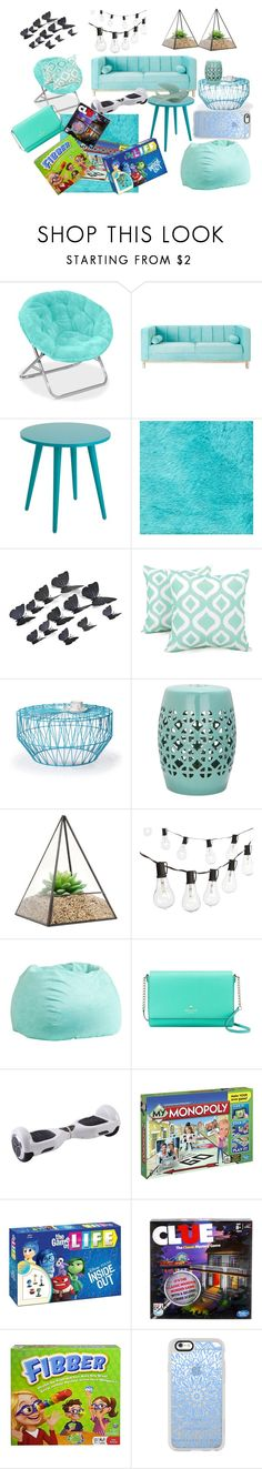 """Blue (contest)"" by officialajaxxx ❤ liked on Polyvore featuring interior, interiors, interior design, home, home decor, interior decorating, WALL, Arlee Home Fashions, Adeco and Safavieh"