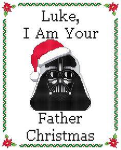 Dark Lord Funny Christmas Cross Stitch 2 PATTERNS by KnerdlyKnits