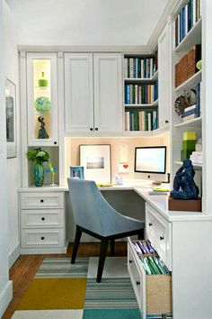 Diy Office Organization Makeover Small Work From Home Chic Interior Design Decor