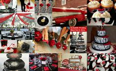 Rockabilly - Red, Black & Zebra Print Wedding Inspiration by Rock your Locks     http://www.facebook.com/pages/Rock-your-Locks/133025596754055