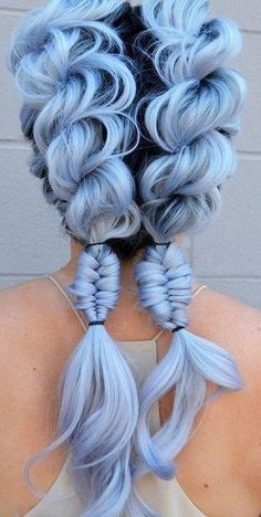 25 pastel blue hair color ideas - try hair options in 2019 - hair color style  #color #ideas #options #pastel #style Cute Hair Colors, Beautiful Hair Color, Hair Dye Colors, Cool Hair Color, Crazy Hair Colour, Beautiful Braids, Pastel Blue Hair, Hair Color Blue, Pastel Shades