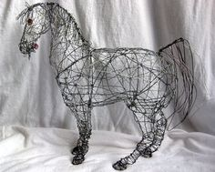 Arabian Horse Wire Sculpture by SeahorseTides