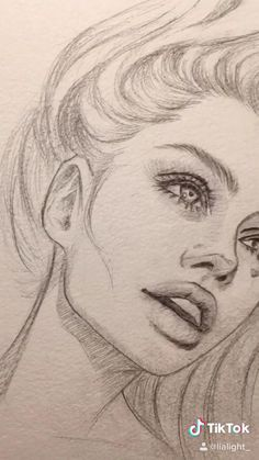 Drawing Angelina Jolie pencil sketch Girl Drawing Sketches, Art Drawings Sketches Simple, Girl Sketch, Realistic Drawings, Pencil Sketches Of Faces, Baby Sketch, Face Drawings, Portrait Sketches, Abstract Pencil Drawings