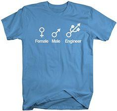 Shirts By Sarah Men's Funny Engineer T-Shirt Male Female Symbol Shirts