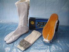Japanese Ninja Tabi Boots Inc Socks!! White (UK7 JP 25) dye to any color for New 52 Spoiler