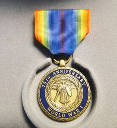 """75Th Anniversary Medal Of WWl - Given To Veterans Of WWl - 1918-1993 - 1 1/2"""" X 2 3/4"""" - Great Find! by EagleDen on Etsy"""