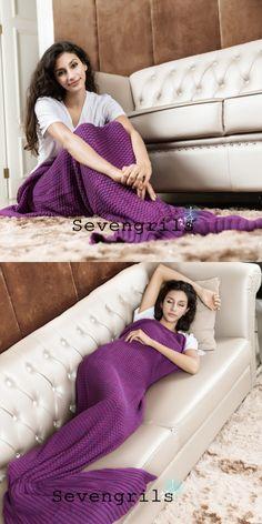 purplr mermaid blankets, knitted mermaid blankets, handmade mermaid blankets @veenrol