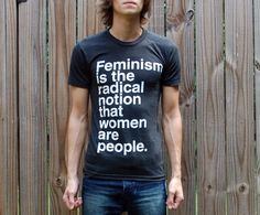 "Let's talk about that dirty F-word that people like to avoid: ""feminism"". But why? There's nothing wrong with being a feminist! Feminism is founded on a belief of equality, it's as easy as that. Why run from it? Show off your feminist pride! 5 dollars from the sale of each shirt will be donated to Planned Parenthood. (WickedClothes)"
