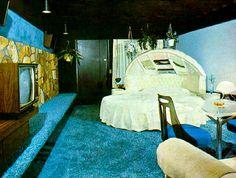 vintage round motel love nest